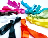 Satin Ribbon Bright Spectrum Shoe Laces - Hightop / Boot Length Shoelaces - 76 Inches - Choose Your Color
