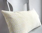 "ZigZag Cushion Organic Cotton Yellow  20 x 12"""