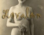 MATURE... La Maîtresse... Vintage Nude Photo Download.... Erotic Digital Download Image by Lovalon