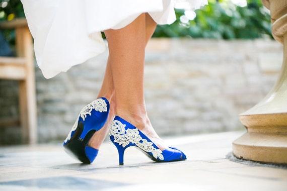 Royal Blue Wedding Heels: Wedding Heels Royal Blue Wedding Shoes Blue Bridal By