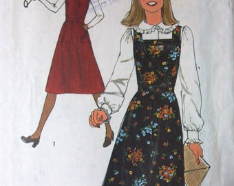 Simplicity 8118 Pattern for Misses' Jumper, Size 12, From 1977, Vintage Jumper Pattern, Vintage Sewing, Square Neckline, Fitted Waist