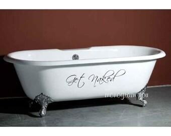 Bathroom Wall Decal U0027Get Nakedu0027 Part 96