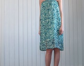 Print strapless easy to wear summer dress