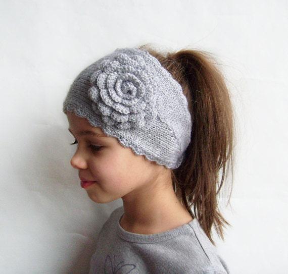 Ear Warmer Knit Headband Womens Winter Headband by KnitsbyVara
