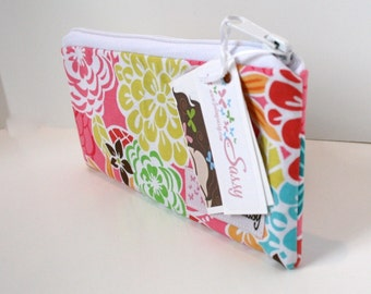 Bright Floral Colored Make-up Bag, Small Size Cosmetic Bag, Travel Makeup Bag