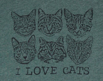 I Love Cats Womens Tee