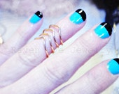 Above Knuckle Ring Mid Finger Ring Chevron Adjustable Ring Reversible Ring Four Coil
