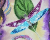 """Original 3D Acrylic Dragonfly Painting """"Jeweled Beauty"""" On Gallery Canvas By Ruth Welter"""