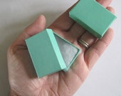 100 TINY Teal Green cotton filled boxes