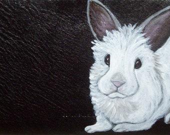 Rabbit Custom Painted Women's Leather Wallet