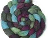 Handpainted Superwash BFL Wool Nylon 80/20 Sock Roving - 4 oz. EMILY - Spinning Fiber