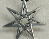 Seven Star, 7star, Solid sterling silver pendant.