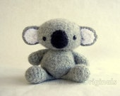 Felted Wool Koala Crochet Plush Toy