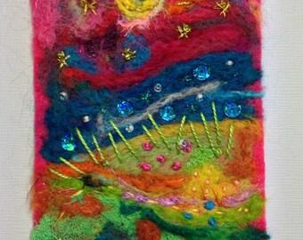 Summerisle - Felted Artwork