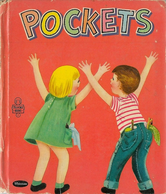 VINTAGE KIDS BOOK Pockets a Whitman Tell-a-Tale Book