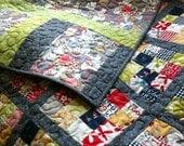 Modern quilt - An Elephant Never Forgets - Pamelaquilts