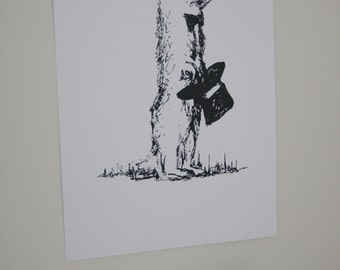 SALE - Groundhog Without a Shadow - Limited Edition Original Screen Print