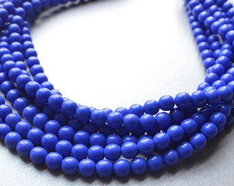 The Michelle- Cobalt Czech Glass Chunky Necklace