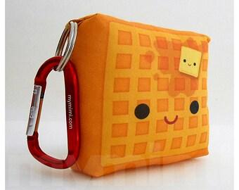 Toy Keychain, Waffle Pillow, Food Pillow, Kawaii Food, Kawaii Toy, Backpack Charm