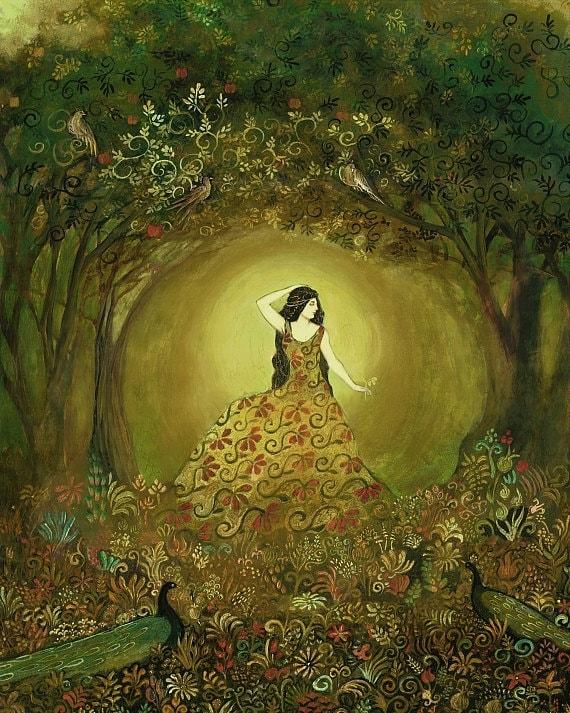 Summers Cauldron - Mythological Goddess Art 11x14 Print
