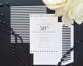 Black Tie Affair Invite and Envelope Paper Liner - DIY Printables