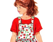 SIMPLICITY 8451 Overalls Jumper and T-Shirt  Size 2-4