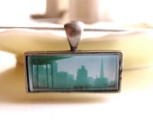 san francisco skyline photo pendant necklace