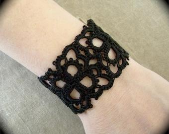 Tatted Cuff Bracelet - Petals