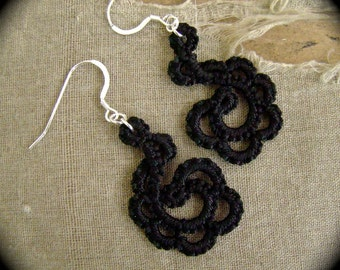 Tatted Lace Earrings  - Flourish - Choose Your Color