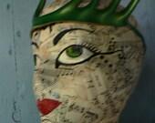 Pixie Points, Absinthe green fairy headband, leather