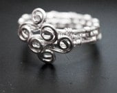 Sterling Silver Wire Wrapped Adjustable Ring