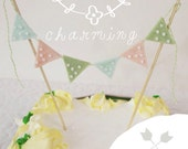 Birthday Cake Bunting - Shabby Chic Cake Decoration - Polka Dots