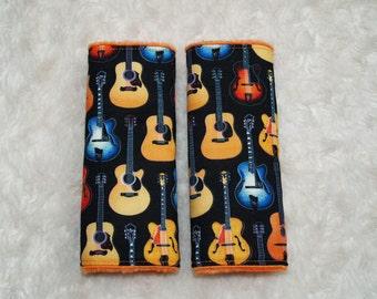 Reversible cool rock guitar Car Seat Belt strap covers
