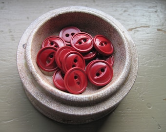 button dark red classic look set of 14