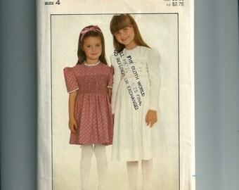 Vintage Butterick Children's Dress Pattern 4308