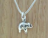 Elephant Sterling Silver Charm - Petite Elephant Charm