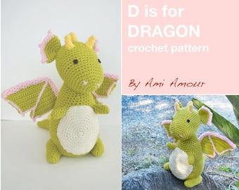 D is for Dragon Pattern Crochet Amigurumi PDF