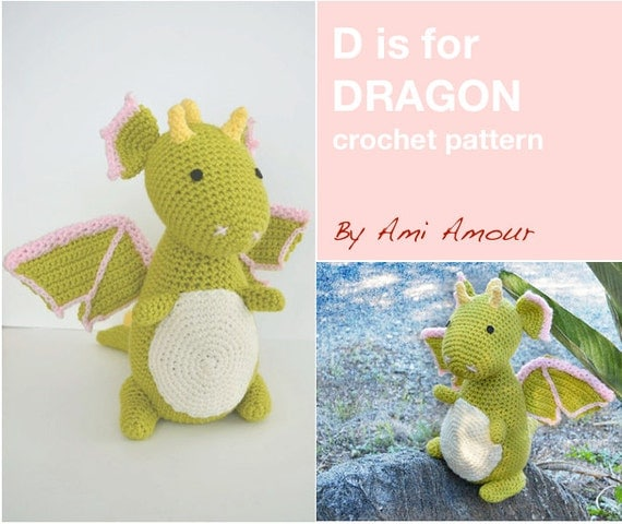 D is for Dragon Pattern Crochet Amigurumi PDF by amiamour ...