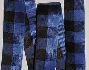 Blue And Black Ribbon Big Plaid Checks Check Large Gingham Print cbonefive