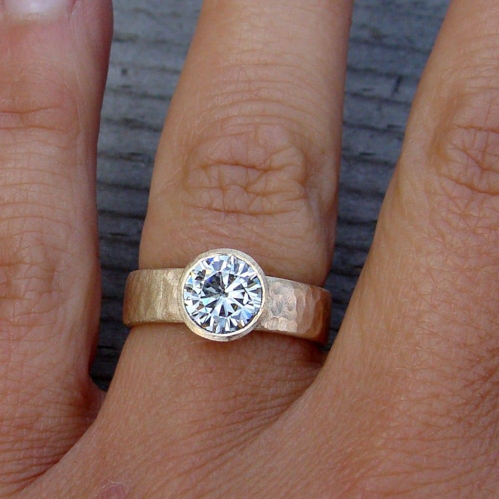 Moissanite Wedding Engagement Or Right Hand Ring Forever