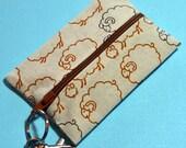 Beige Sheep Zip-It Case / Card Holder - Sheepish