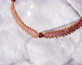Reserved for Sari  Real Jet and seed bead anklet