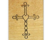 Ornate Cross mounted rubber stamp, Christian, Easter, Jesus Christ, religious, Sweet Grass Stamps No.11