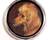 Afghan Hound Pill Box Pillbox Case Dogs Pet Dog Lovers Animal Painting Art Trinket Box Vitamin Holder for Guitar Picks Small Items