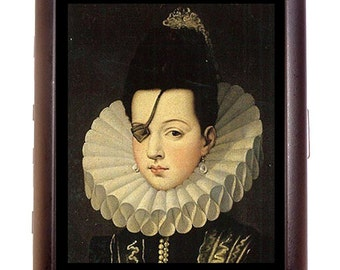 Spanish Aristocrat Cigarette Case Eyepatch Princess Ana Spain Royalty Mysterious ID Business Card Credit Card Holder Wallet