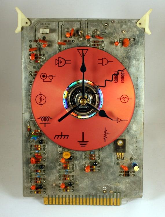 Vintage Computer Circuit Board Desk Clock (large)