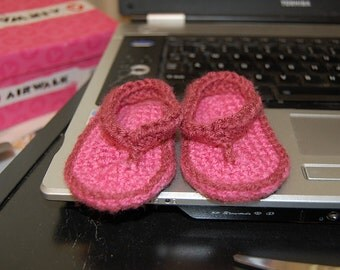 Crocheted Baby Flip Flops Pattern