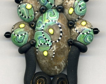 Original brooch of polymer clay