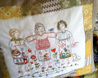 homebodies, a printed design sampler to embroider