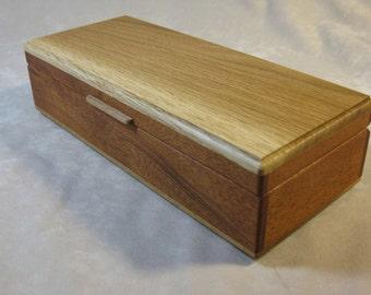 Oak and Sapele Long Box - LB1